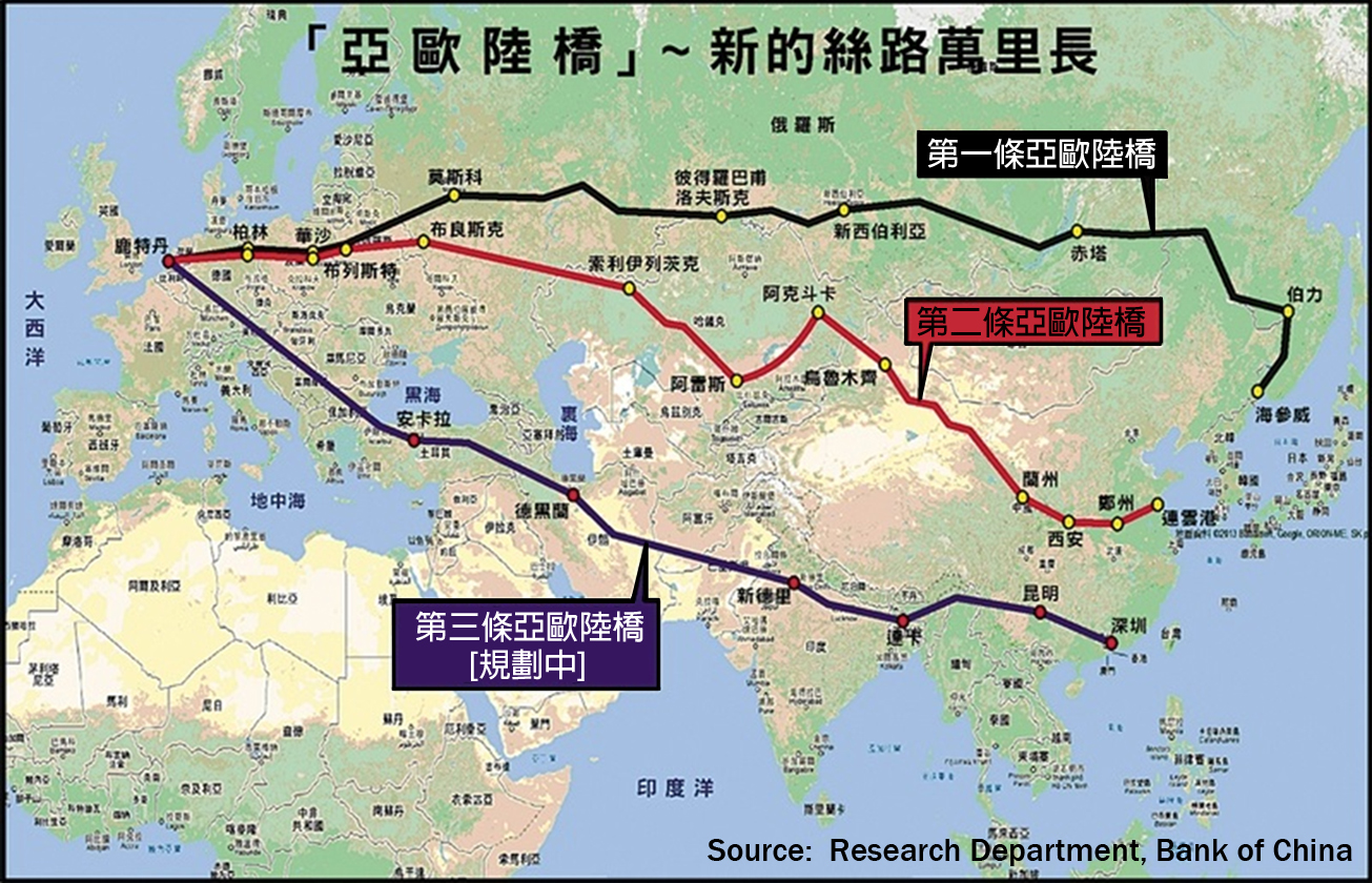 Maritime Silk Road Society 海上絲綢之路協會 - Us new silk road map
